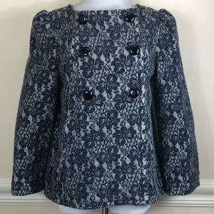 Marc by Marc Jacobs Gray double breasted jacket M